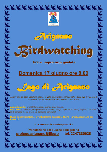 Birdwatching ad Arignano