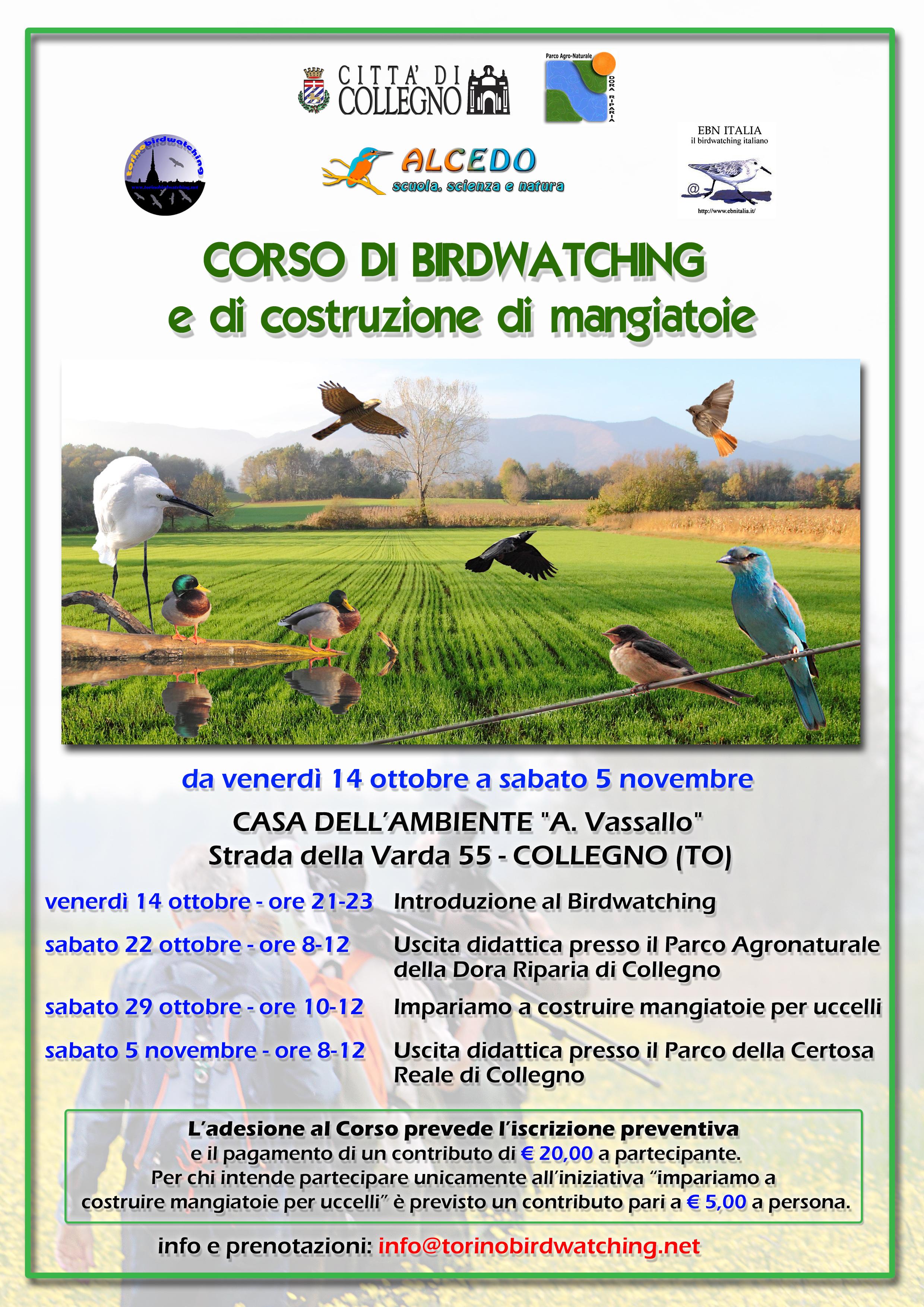 Corso Birdwatching e costruzione mangiatoie